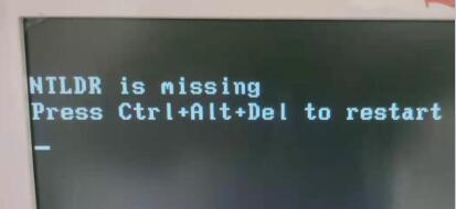 EFI删除系统不能启动_图例